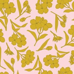 Wildflower Sketch | Pink + Green