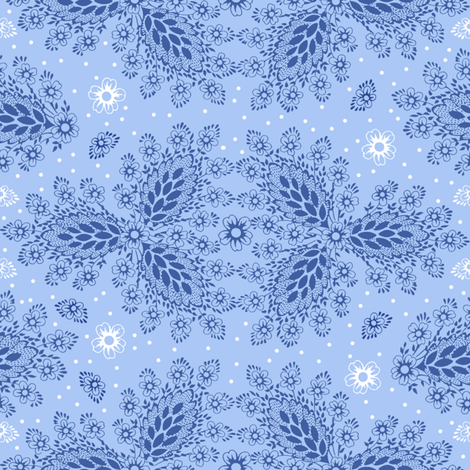 Lisbet blueberry 2 fabric by lilyoake on Spoonflower - custom fabric