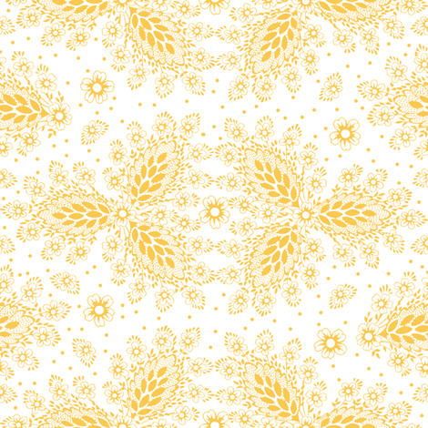 Lisbet  citrus 1 fabric by lilyoake on Spoonflower - custom fabric