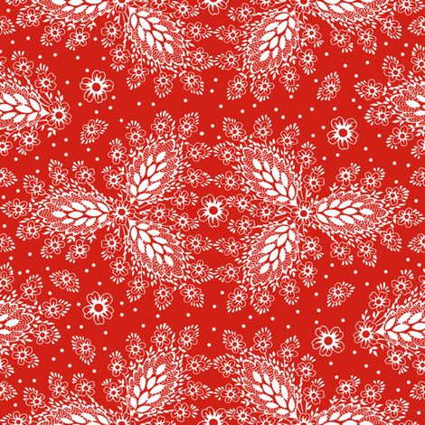 Lisbet strawberry 2 fabric by lilyoake on Spoonflower - custom fabric