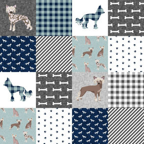 chinese crested pet quilt b dog breed nursery quilt wholecloth cheater floral