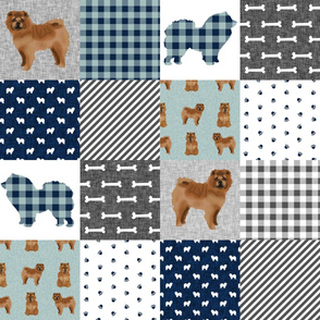 chowchow pet quilt b dog breed nursery quilt wholecloth cheater floral