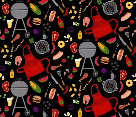 BBQ fabric by abbyhersey on Spoonflower - custom fabric
