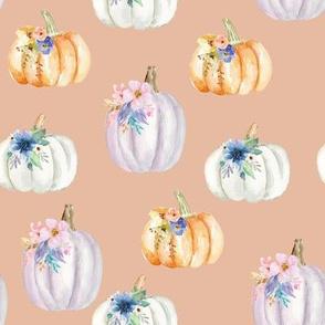 Floral Pumpkins // Rose Peach