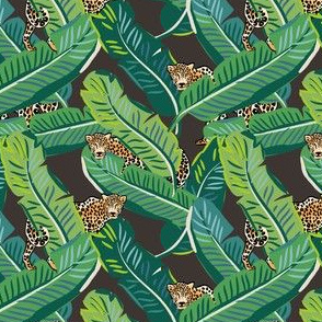 "4"" Cheetah & Tropical Leaves - Dark Brown"