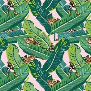 "4"" Cheetah & Tropical Leaves - Pink"
