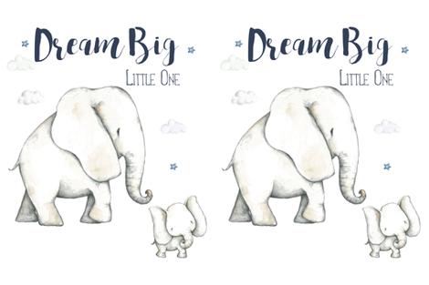 2 to 1 Yard of Minky Dream Big Elephant fabric by shopcabin on Spoonflower - custom fabric