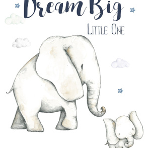 2 to 1 Yard of Minky Dream Big Elephant