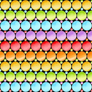Rainbow Polka Dot Stripes