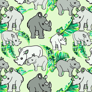 White Rhinos green