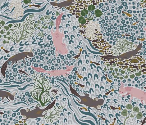 Adorable Axolotls  fabric by harrietharkerdesigns on Spoonflower - custom fabric