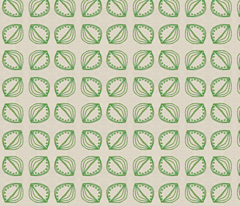 green seed on linen fabric by fiberdesign on Spoonflower - custom fabric