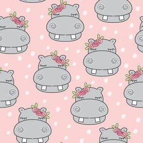 hippos-and-pink rosebuds