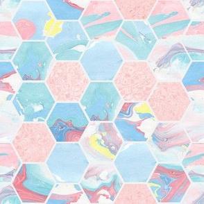 Metamorphic Marble Hexagon