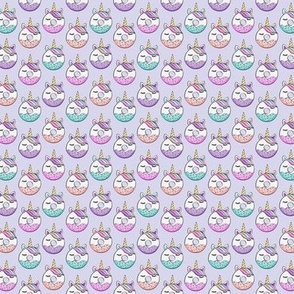 "5/8"" unicorn donuts (light purple) C18BS"