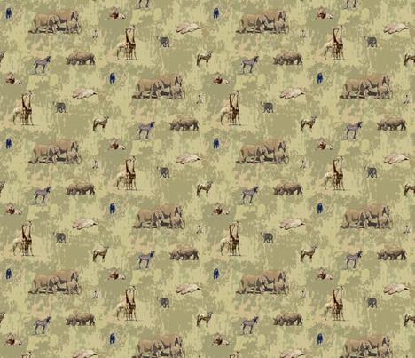 Safari Animals Pattern fabric by margaret_ann_missman_designs on Spoonflower - custom fabric