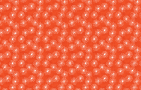 Small Dandelions M+M Watermelon Red by Friztin fabric by friztin on Spoonflower - custom fabric