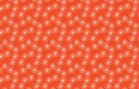 Dandelions M+M Watermelon 9.5 by Friztin fabric by friztin on Spoonflower - custom fabric