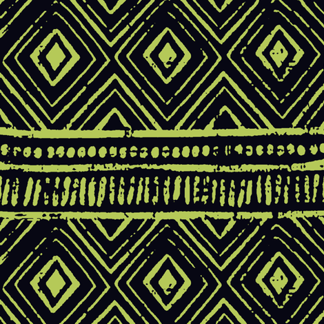 Mud Cloth // Blackcurrant & Willow // Small fabric by thinlinetextiles on Spoonflower - custom fabric