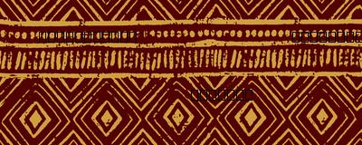 Mud Cloth // Maroon & Apache Yellow // Small
