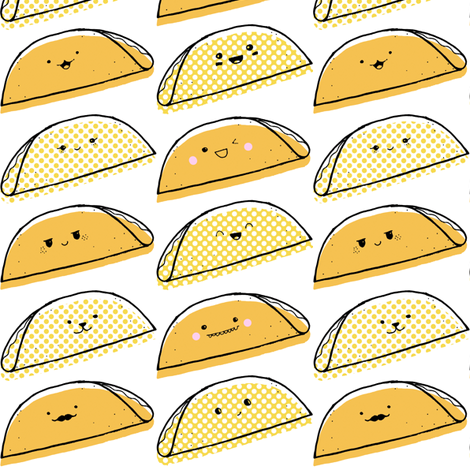 Taco Tuesday fabric by booboo_collective on Spoonflower - custom fabric