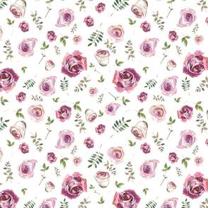 Watercolour Roses White