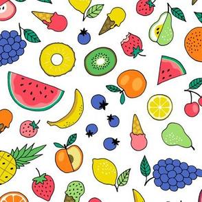 Summer Fruit Salad with ice cream