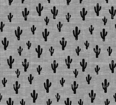 Cactus - Black Gray Texture - Medium