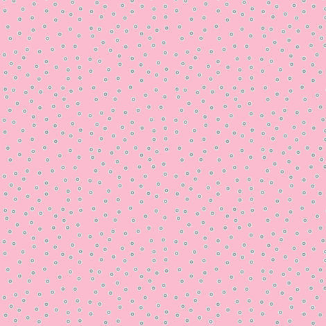 Twinkling Silvery Dots on Lolly Pink - Small Scale fabric by rhondadesigns on Spoonflower - custom fabric