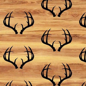 Deer Antlers // Light Wood Grain // Small