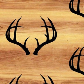 Deer Antlers // Light Wood Grain // Large