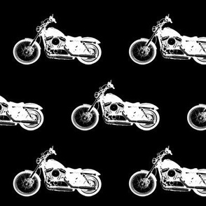 "4"" Motorcycles on Black"
