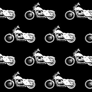 "2.5"" Motorcycles on Black"