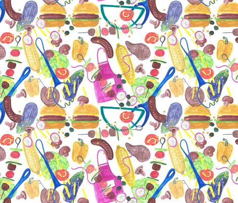 barbeque mix fabric by claireybean on Spoonflower - custom fabric