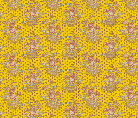 Rose Baskets Sun fabric by amyvail on Spoonflower - custom fabric