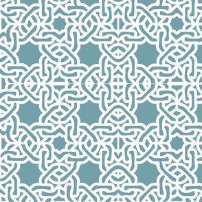Modern moroccan tile links blue green