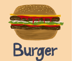 Burger fabric by cathiedesigns on Spoonflower - custom fabric