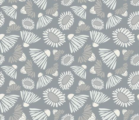Modern Farmhouse Flowers fabric by samantha_faye_designs on Spoonflower - custom fabric
