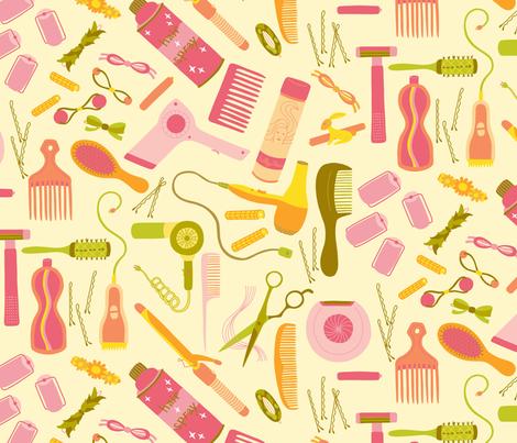 Good Hair Day - Frolic fabric by abbyhersey on Spoonflower - custom fabric