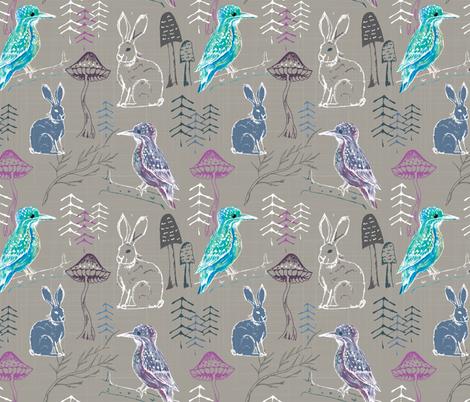 call of the kingfisher fabric by gemmacosgroveball on Spoonflower - custom fabric