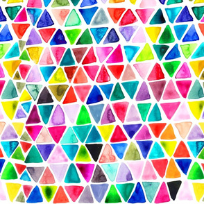 watercolors triangles
