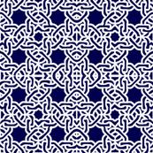 Navy modern moroccan tile spanish tile mexican tile white on navy