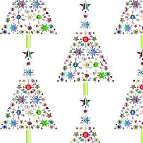 Holiday Tree of Snowflakes