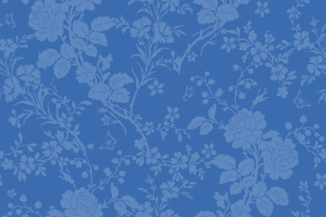 Bridal Suite deep blueberry fabric by lilyoake on Spoonflower - custom fabric
