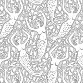 mermaid gray 12.5x15.5