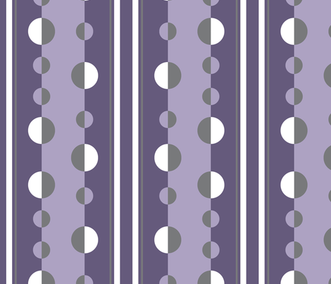 circles and stripes in purple and gray fabric by mel_fischer on Spoonflower - custom fabric