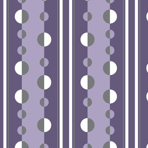 circles and stripes in purple and gray