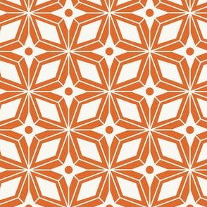 Starburst - Midcentury Modern Geometric Orange #1