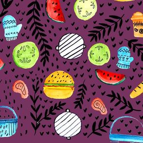 summer cookout purple