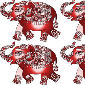 elephant- red